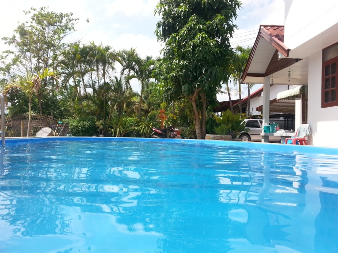 coconut palms swimming pool, maha Sarakham thailand 2