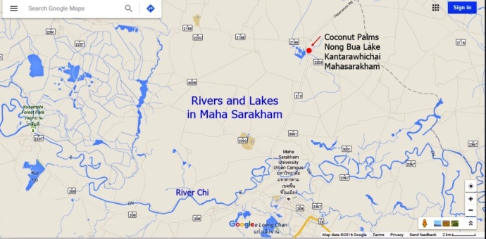 Rivers and Lakes in Mahasarakham_Thailand