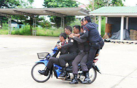 Thai police in pursuit